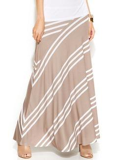 INC International Concepts Colorblock-Stripe Maxi Skirt