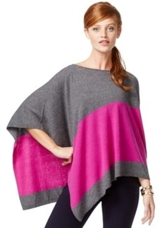 Inc International Concepts Colorblocked Poncho Sweater, Only at Macy's