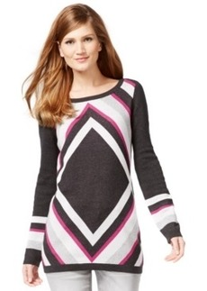 Inc International Concepts Colorblocked Tunic Sweater, Only at Macy's