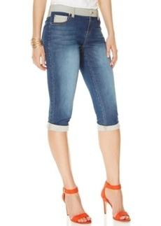 Inc International Concepts Contrast-Trim Skimmer Jeans