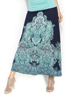 INC International Concepts Convertible Paisley-Print Maxi Skirt