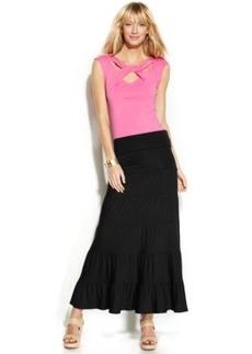 INC International Concepts Convertible Tiered Maxi Skirt