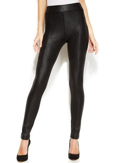 INC International Concepts Crackle-Coated Ponte Skinny Pants