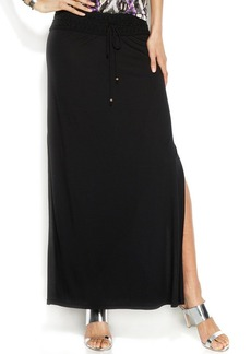 INC International Concepts Crochet-Waist Maxi Skirt