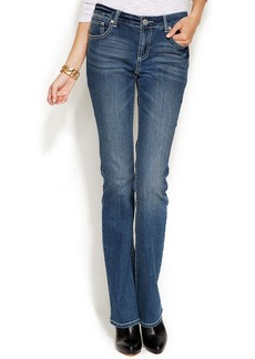 INC International Concepts Petite Bootcut Jeans, Medium Wash