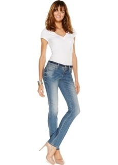 INC International Concepts Straight-Leg Jeans, Monday Wash