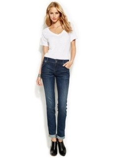 INC International Concepts Curvy-Fit Straight-Leg Jeans, Stormy Wash