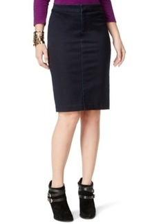 Inc International Concepts Denim Pencil Skirt, Dark Indigo Wash, Only at Macy's