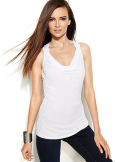 INC International Concepts Draped-Neck Tank Top