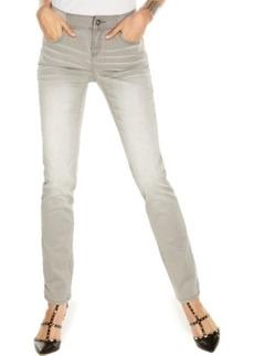 Inc International Concepts Elastic-Waist Skinny Jeans, Grey Thunder Wash