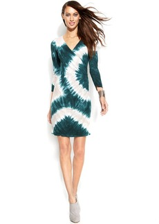 INC International Concepts Embellished Tie-Dye Dress