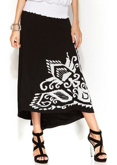 INC International Concepts Embroidered High-Low Maxi Skirt