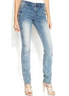 INC International Concepts Embroidered Studded Skinny Jeans