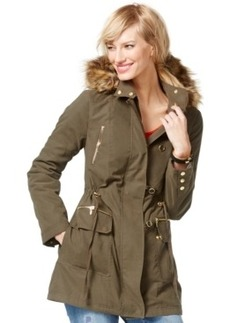 Inc International Concepts Faux-Fur-Trim Anorak Jacket, Only at Macy's