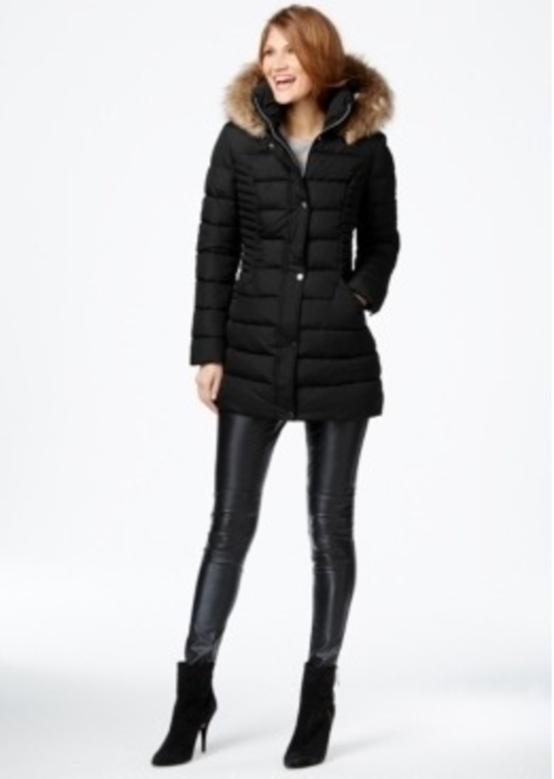 Inc International Concepts Coat Faux Fur Trim Hooded ...