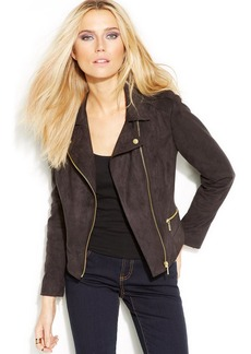 INC International Concepts Faux-Suede Moto Jacket