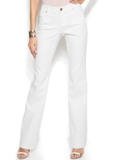 INC International Concepts Flap-Pocket Bootleg Jeans, White Wash