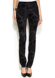 INC International Concepts Flocked Jacquard Skinny Jeans