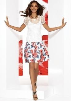 INC International Concepts Floral-Print A-Line Skirt