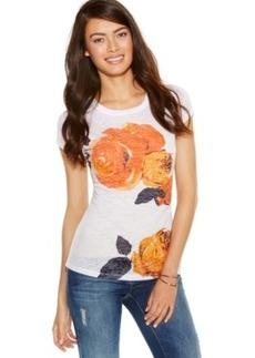 Inc International Concepts Plus Size Floral-Print Burnout Tee