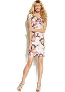 INC International Concepts Floral-Print Illusion-Back Dress
