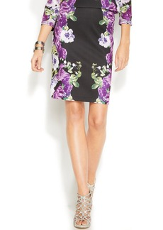 INC International Concepts Floral-Print Pencil Skirt