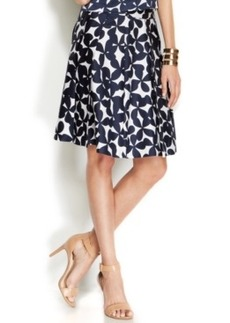 INC International Concepts Floral-Print Pleated A-Line Skirt