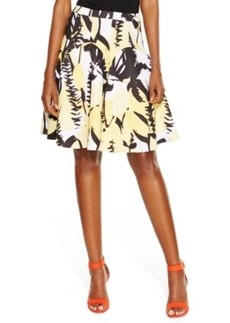 INC International Concepts Floral-Print Pleated Flare Skirt