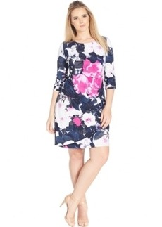Inc International Concepts Floral-Print Ruched Dress
