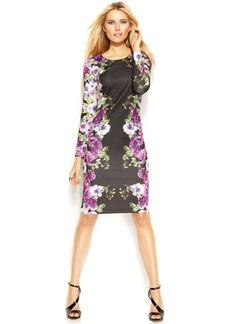 INC International Concepts Floral-Print Scuba Dress