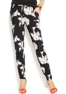 INC International Concepts Petite Floral-Print Soft Pants