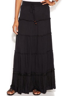 INC International Concepts Fringe Maxi Skirt