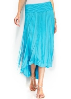 INC International Concepts Fringed High-Low Maxi Skirt