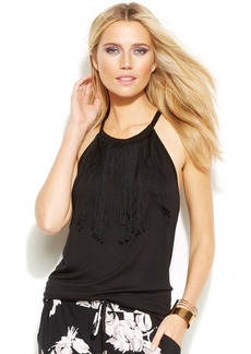 INC International Concepts Fringed Top
