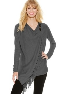 Inc International Concepts Fringe Wrap Cardigan