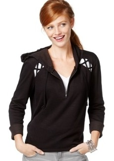 Inc International Concepts Half-Zip Cutout Hoodie, Only at Macy's