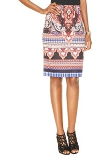 Inc International Concepts High-Waist Printed Pencil Skirt