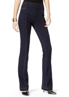 Inc International Concepts High-Waist Slim Flare Pants, Dark Indigo Wash, Only at Macy's