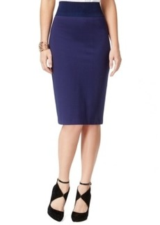 Inc International Concepts High-Waist Solid Pencil Skirt, Only at Macy's
