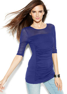 INC International Concepts Illusion Ruched Top