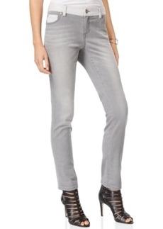 Inc International Concepts Knit-Trim Boyfriend Jeans, Grey Wash, Only at Macy's