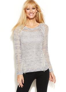 INC International Concepts Knit Zipper Sweater