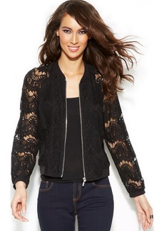 INC International Concepts Lace Bomber Jacket