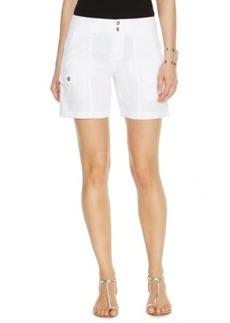 Inc International Concepts Plus Size Linen Cargo Shorts