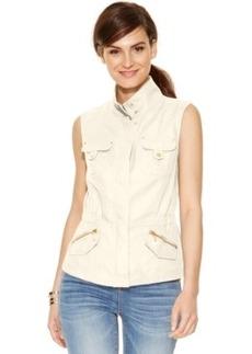 Inc International Concepts Linen Military Vest