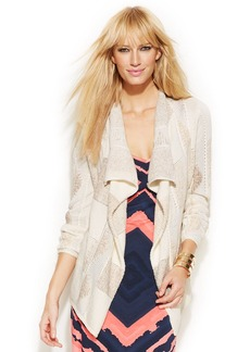 INC International Concepts Long-Sleeve Open-Front Cardigan