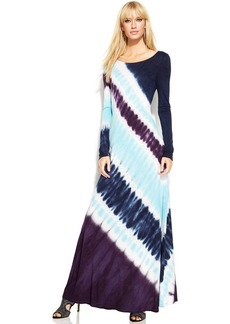INC International Concepts Long-Sleeve Tie-Dye Maxi Dress