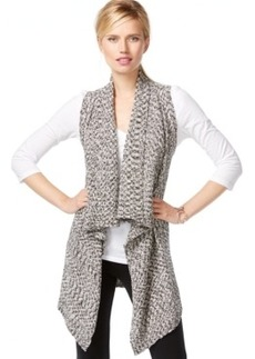 Inc International Concepts Marled Draped Vest, Only at Macy's