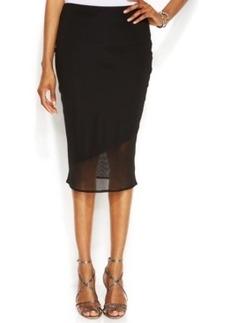 INC International Concepts Mesh-Overlay Illusion Pencil Skirt