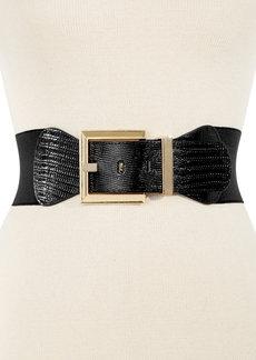 INC International Concepts Metal Buckle Lizard Stretch Waist Belt